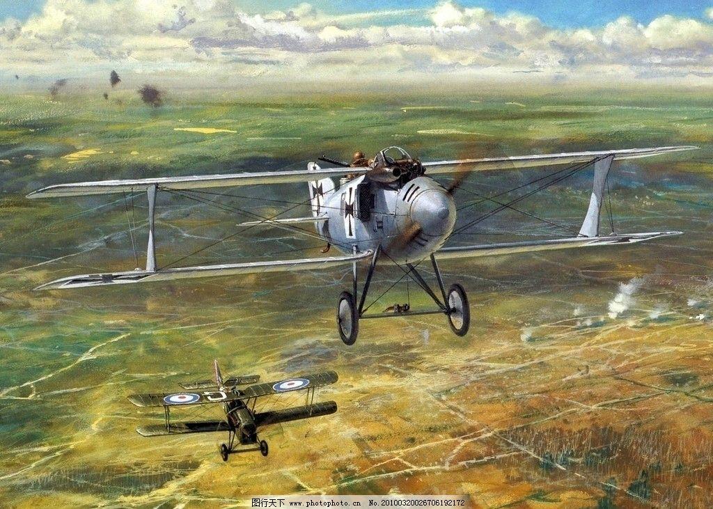 手绘一战飞机图片