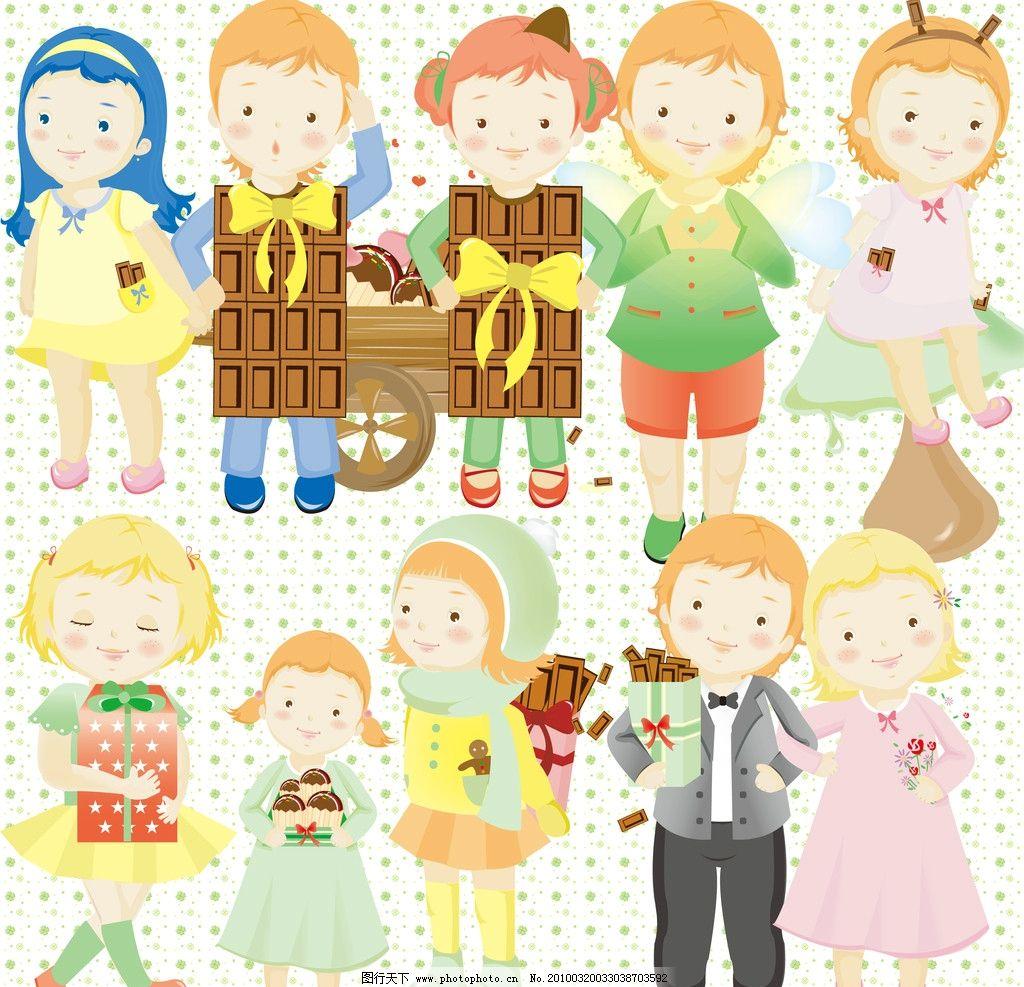 甜美可爱小女孩 甜美 可爱 糖果 小女孩 卡通 psd分层素材 源文件 300