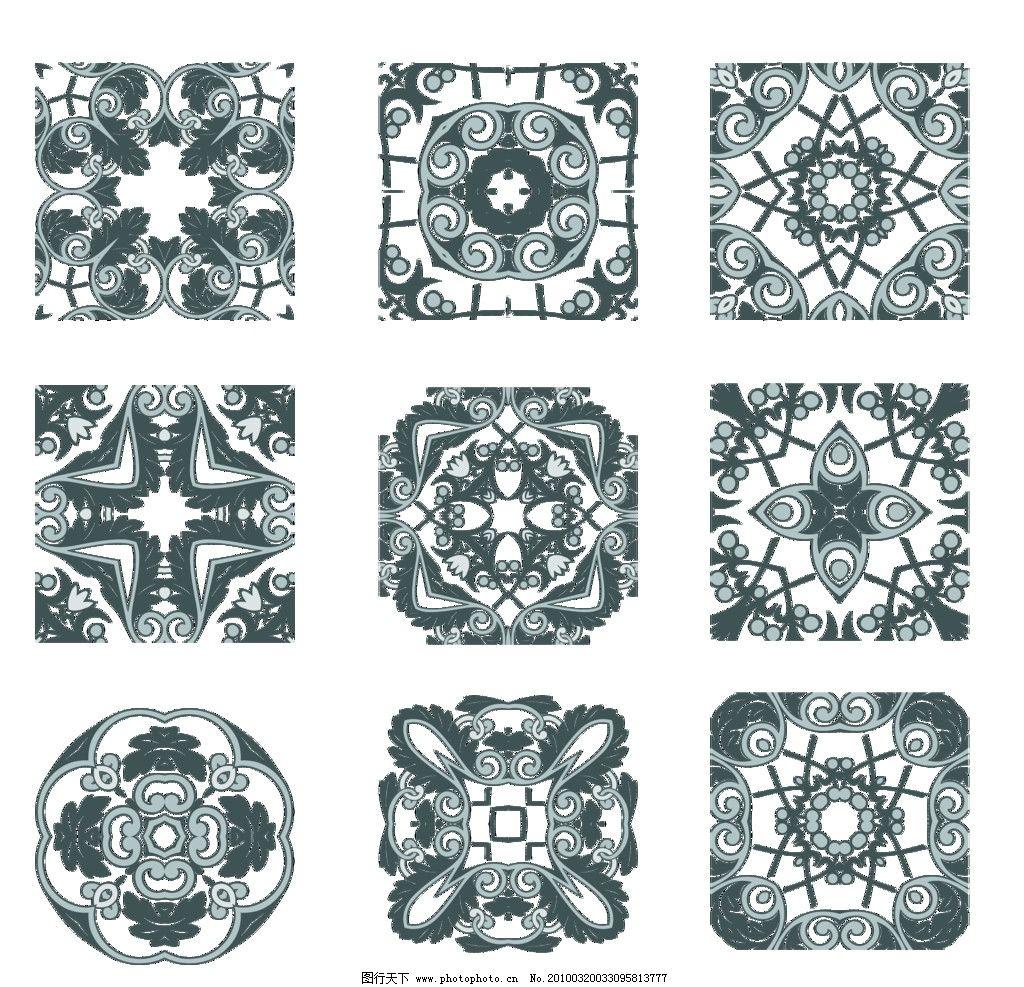 几何圆花纹图片
