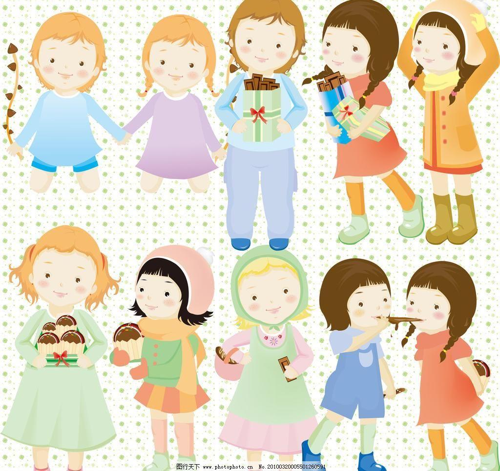 甜美可爱小女孩图片