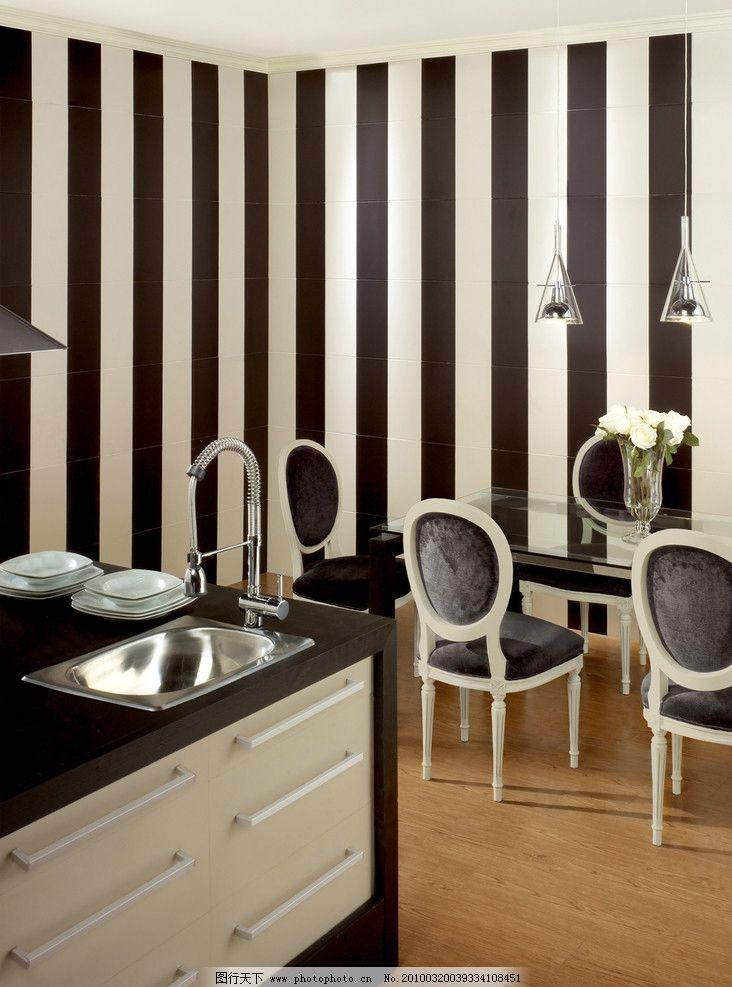 欧式新古典风格饭厅餐厅仿古砖瓷砖铺贴图图片
