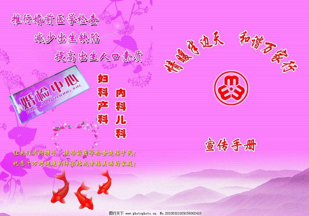 情暖半边天封面 宣传手册 山脉 金鱼 花纹 妇联标志 广告设计模板