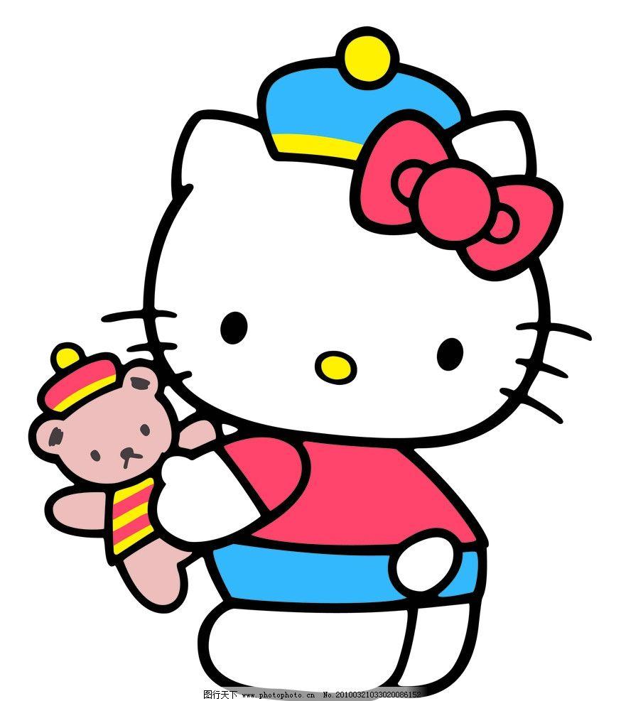 可爱小猫 卡通kt猫 卡通