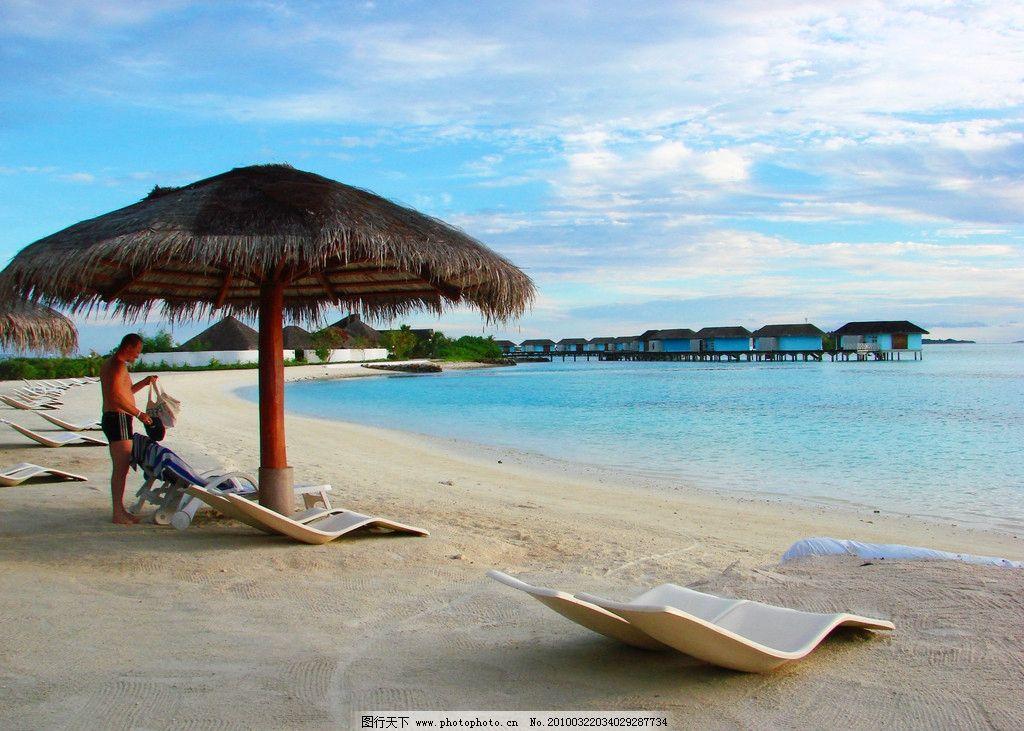 马尔代夫沙滩风光图片