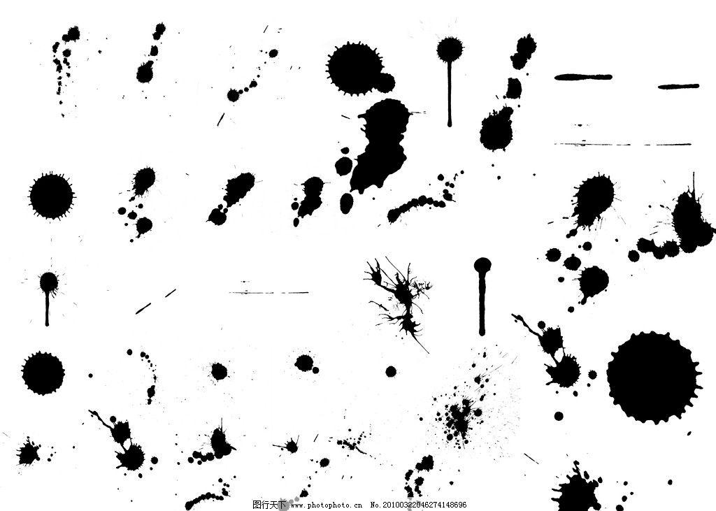 水墨笔刷 笔刷工具 特效 华丽 暗纹 底纹 花纹 背景 水滴 水珠