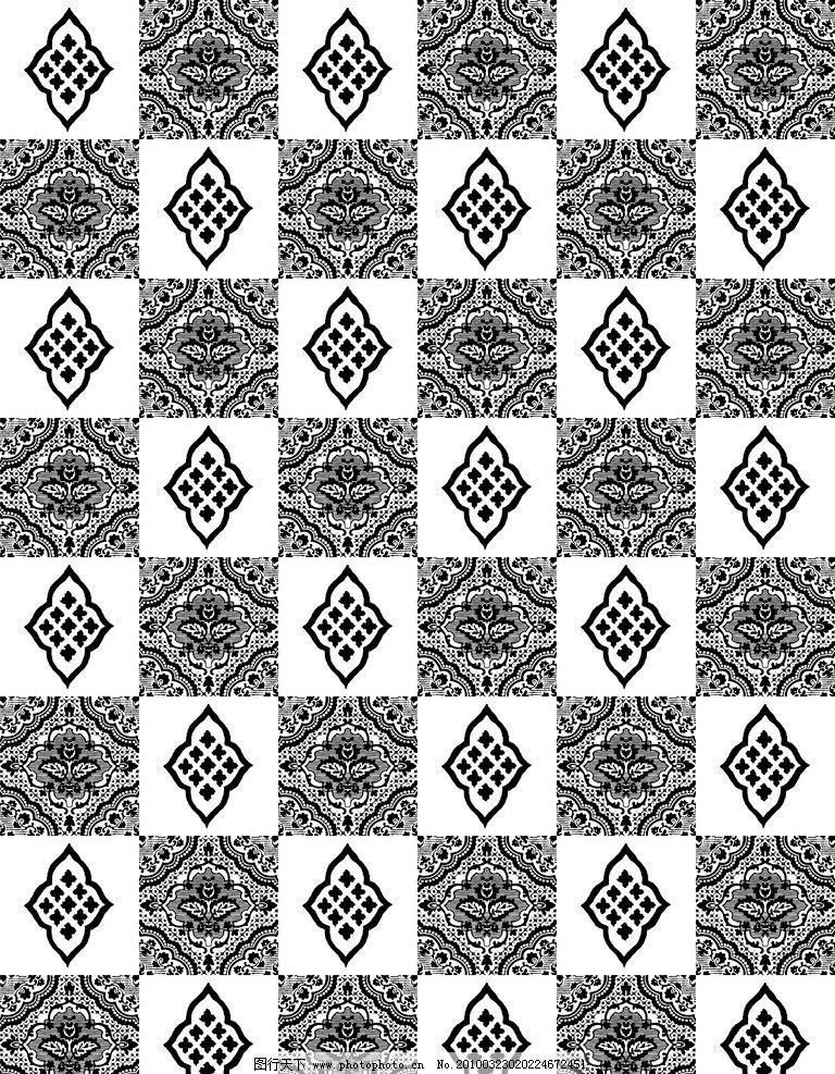 欧式经典底纹 几何 花 叶子 抽象图案 高清墙纸 窗花 设计素材