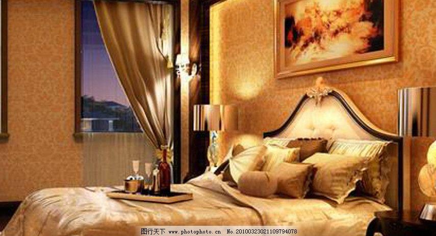 精致欧式家具主卧床图片