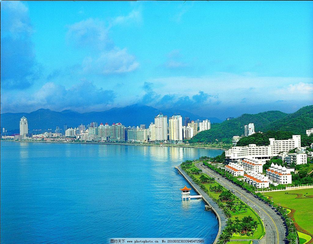 珠海 珠海情侣路风光 风景 海 天空 楼群 海岸 旅游精品 国内旅游