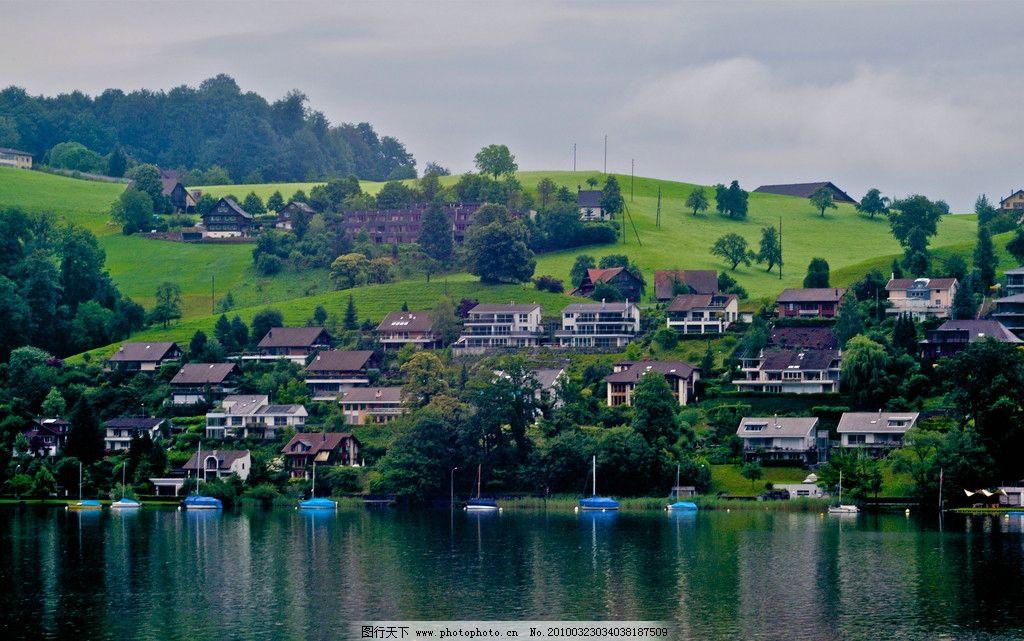 欧洲乡村小镇 风景图片