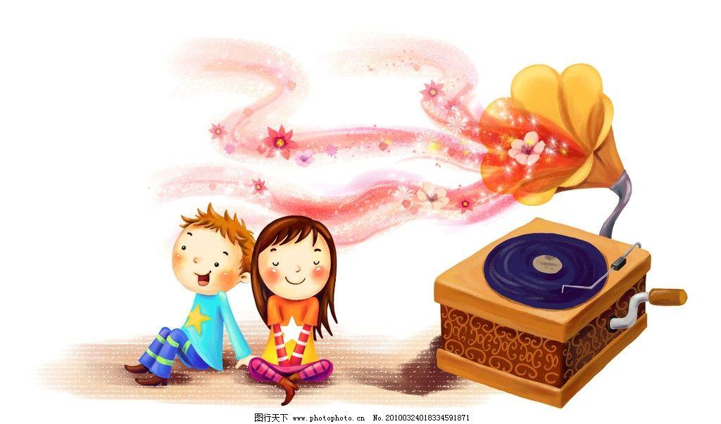 梦幻 童年 手绘图 唯美 可爱 纯真 儿童 小孩 梦幻手绘图 动漫人物