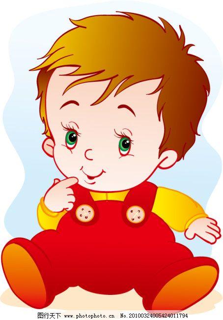 可爱宝贝免费下载 可爱宝贝 可爱宝贝 男宝宝 儿童读物用 矢量图 矢量