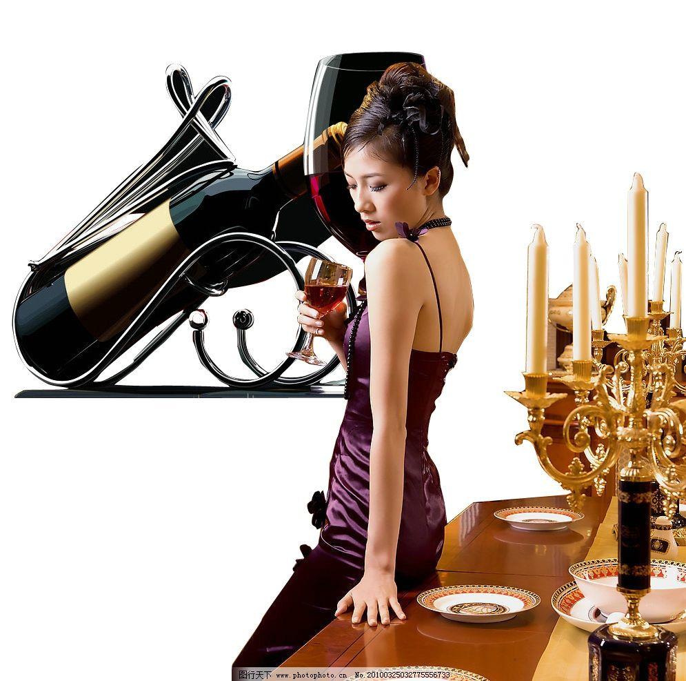 红酒 酒杯 美女 喝酒 宴会 高贵女人 品红酒 高档酒杯 人物