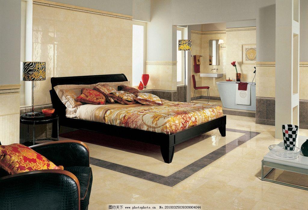 卧室空间瓷砖应用铺贴图图片