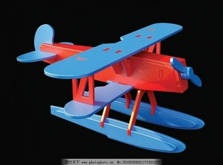 3d飞机模型玩具图片
