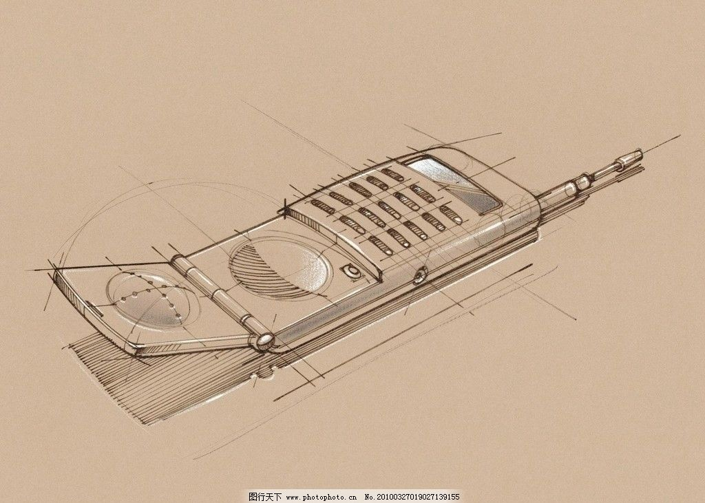 手绘办公室用品 手机图片