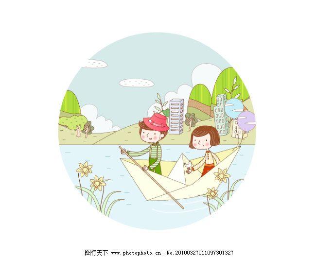 飞机 飞行 海面 韩国插画 快乐儿童梦幻旅行 旅行 梦幻 儿童 可爱