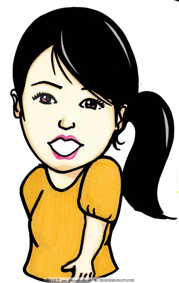 pop手绘女性图片_动漫人物_动漫卡通_图行天下图库