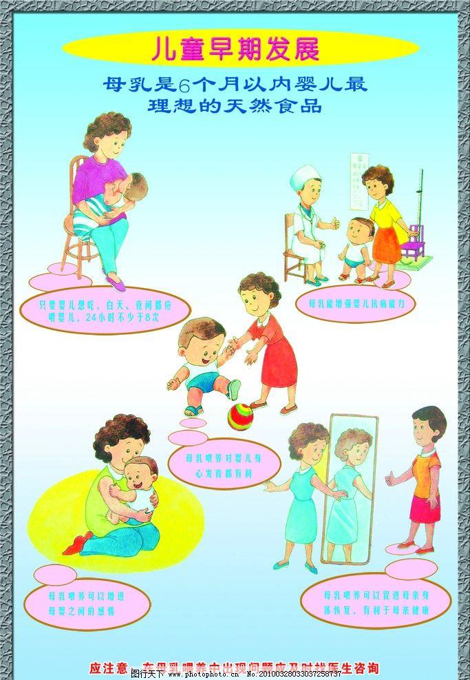 婴幼儿养育知识展板 婴儿 幼儿 养育 育儿知识 母乳喂养 儿童 psd分层
