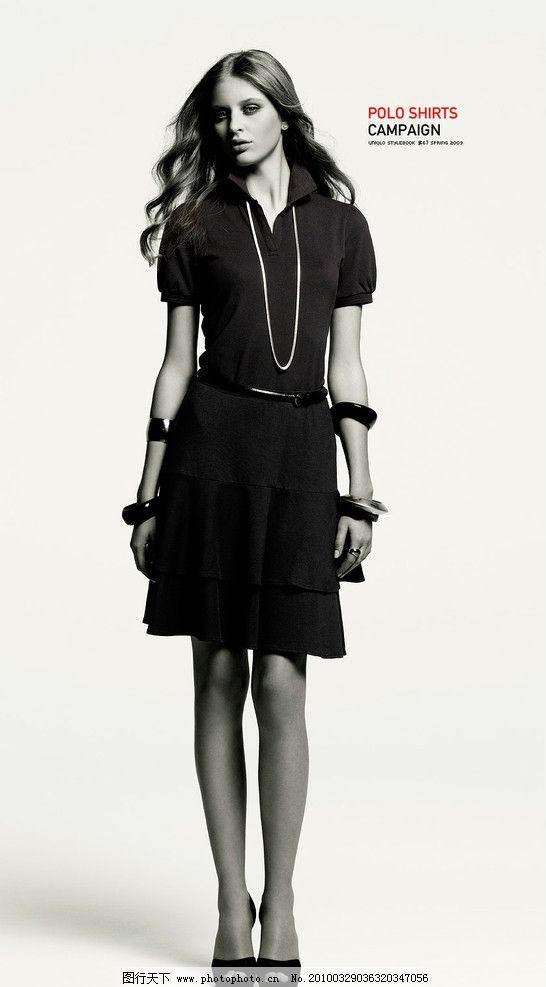 模特 人物 polo 美女 时尚 潮流 前卫 黑色衣服 首饰 服装 人物写真
