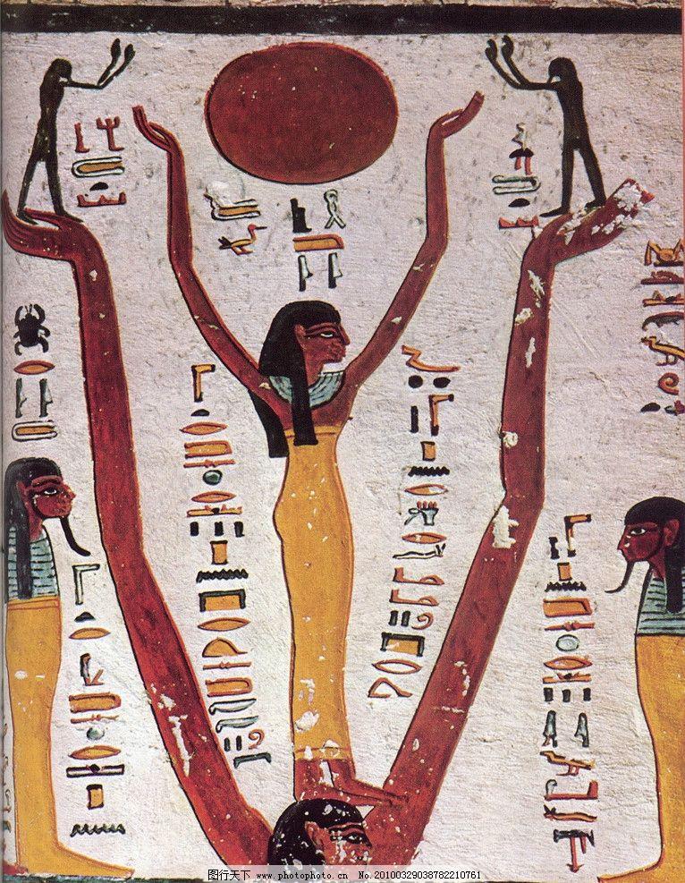 埃及 壁画 人物 古墓 法老 传统 墙壁 古代壁画 美术绘画 文化艺术