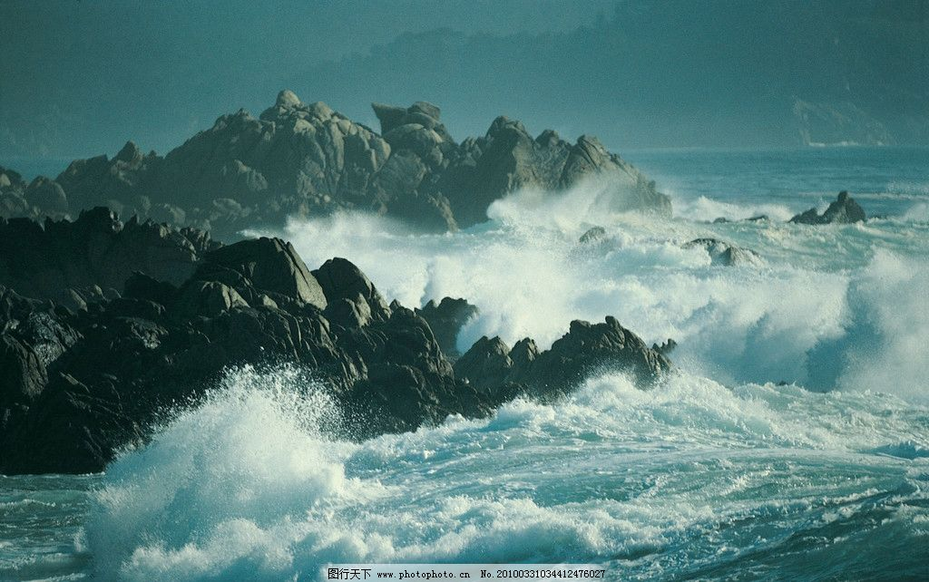 海浪 海水 山 波浪 摄影